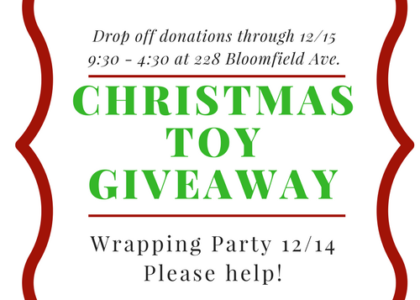 Donate to our Children's Toy Giveaway