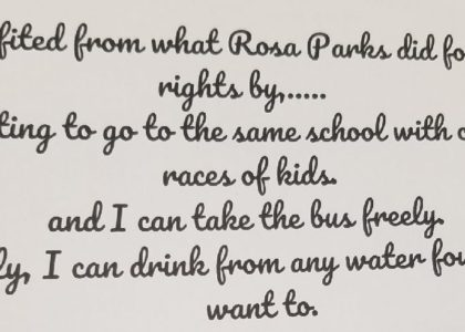 Rosa Parks, Banking, and Black Panther = Busy Students